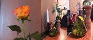 Świeże róże i oliwa