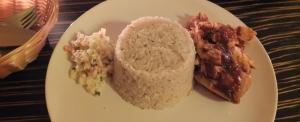 Ryż kokosowy i kurczak w sosie lekko ostrym
