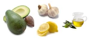 Awokado + czosnek i sok z cytryny + oliwa