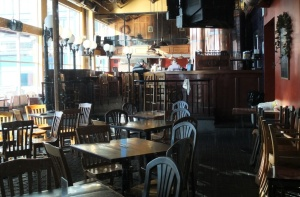 Widok na bar od strony browaru