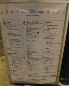 Menu Shake Shack