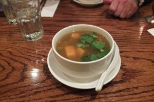 Zupa z dynią i słodkimi ziemniakami