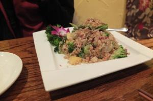 Smażony ryż z ananasem i brokułami