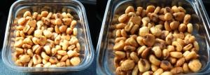 Prażone i solone ziarna kukurydzy