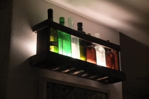 Lampy z butelkami