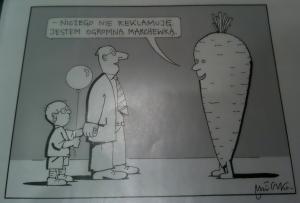 Jestem ogromną marchewką...