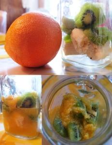 Pomarańcza, kiwi, banan