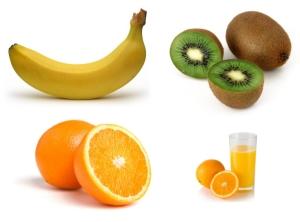 Zmiksuj banana, kiwi i pomarańczę
