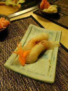 Nigiri z okoniem morskim