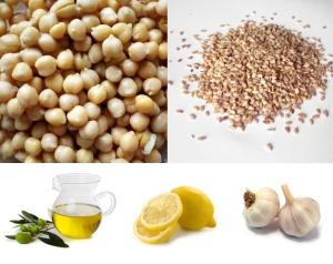 Cieciorka + sezam + oliwa + sok z cytryny + czosnek = hummus