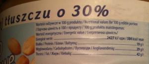 Wartość odżywcza masła orzechowego o obniżonej zawartości tłuszczu