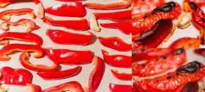 Papryka i czosnek upieczone